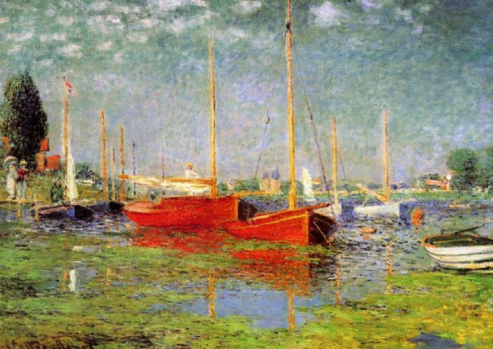 Monet, Claude: Argenteuil. Fine Art Print/Poster. Sizes: A4/A3/A2/A1 (00748)